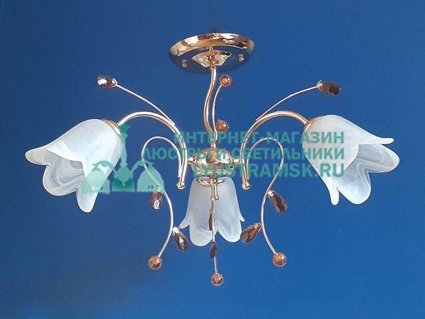 Люстра потолочная TinKo ЛС 419 на 3 рожка золото