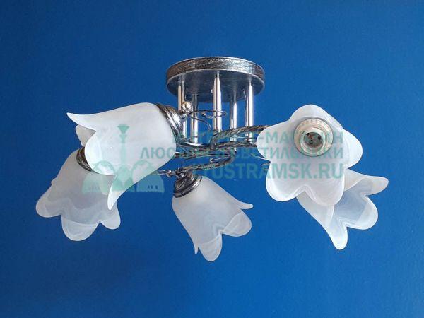 Люстра потолочная LyustraMsk ЛС 617 на 5 рожков, черненное серебро