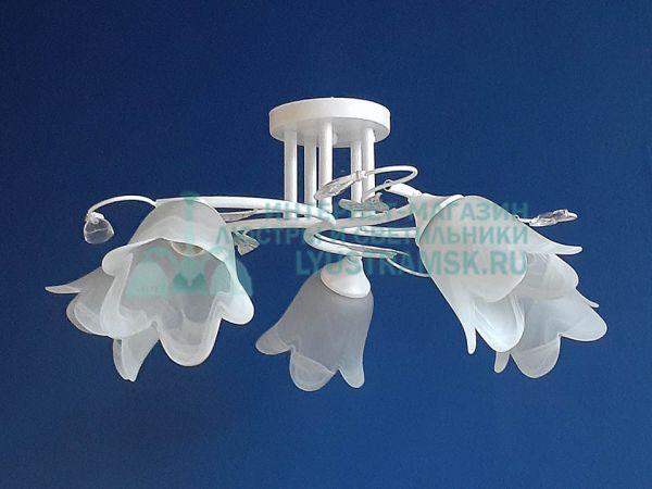 Люстра потолочная LyustraMsk ЛС 625 на 5 рожков, белый