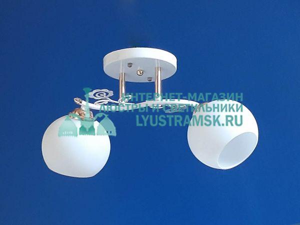 Люстра потолочная LyustraMsk ЛС 351 на 2 плафона, белый