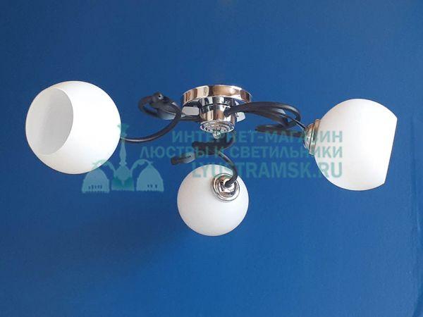 Люстра потолочная LyustraMsk ЛС 398 на 3 рожка, черный/хром