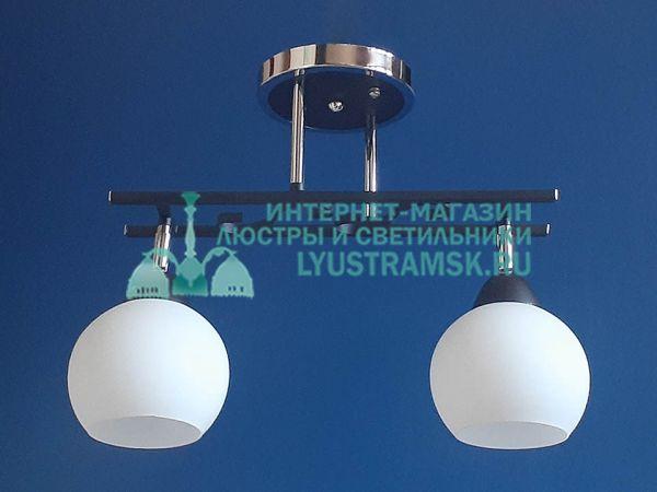 Люстра потолочная LyustraMsk ЛС 365 на 2 плафона, хром/венге