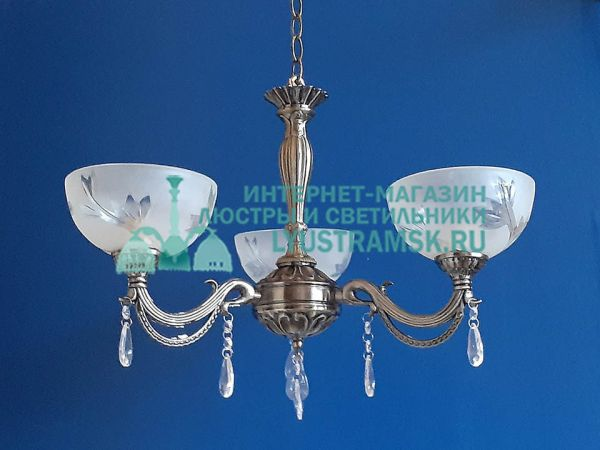 Люстра подвесная LyustraMsk ЛС 031 на 3 рожка, бронза