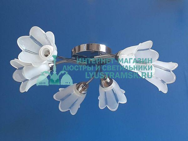 Люстра потолочная LyustraMsk ЛС 488 на 6 рожков, графит