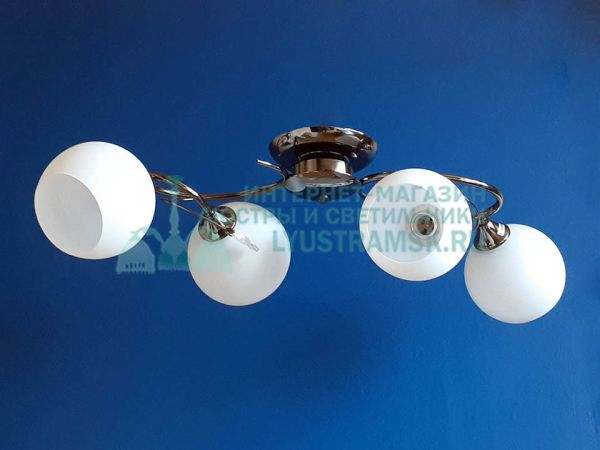 Люстра потолочная LyustraMsk ЛС 468 на 4 плафона графит