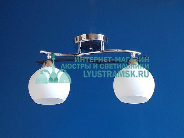 Люстра потолочная LyustraMsk ЛС 514 на 2 рожка, хром/черный