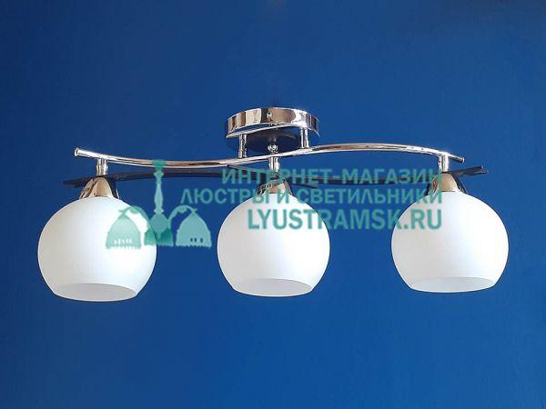 Люстра потолочная LyustraMsk ЛС 514 на 3 рожка, хром/черный