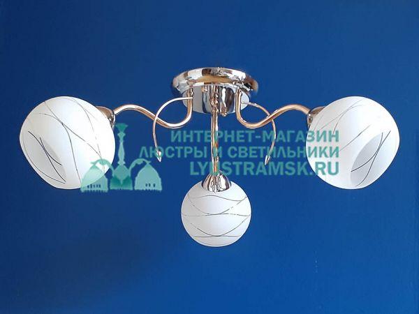 Люстра потолочная LyustraMsk ЛС 533 на 3 рожка золото/хром