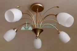 Люстра потолочная LyustraMsk ЛС 544 на 5 рожков, золото
