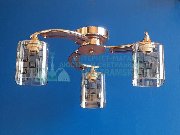 Люстра потолочная LyustraMsk ЛС 528 на 3 рожка, золото