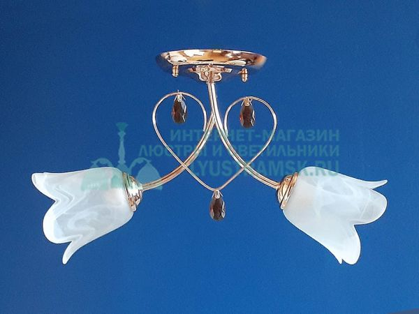 Люстра потолочная LyustraMsk ЛС 124 на 2 рожка, золото