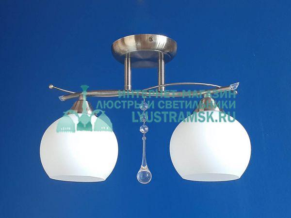 Люстра потолочная LyustraMsk ЛС 499 на 2 плафона бронза