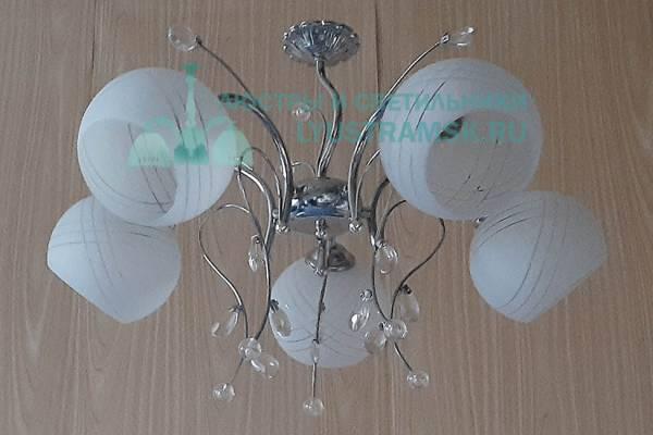 Люстра подвесная LyustraMsk ЛС 053 на 5 рожков, хром