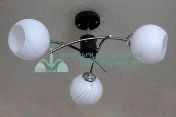 Люстра потолочная TinKo ЛС 385 на 3 рожка, венге, хром