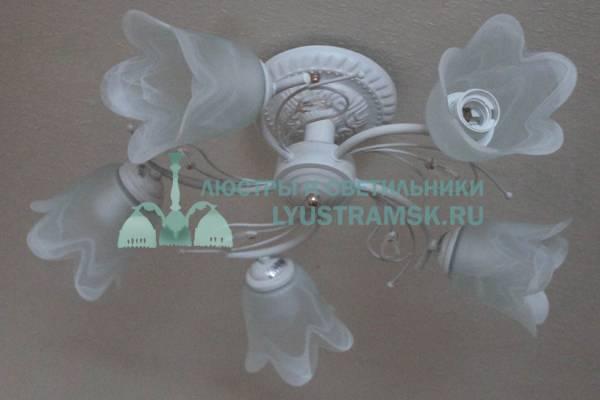 Люстра потолочная LyustraMsk ЛС 647 на 5 рожков белая