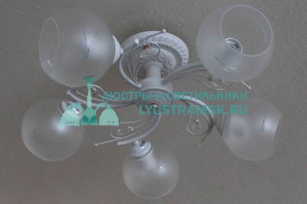 Люстра потолочная ЛС 655/5 белый