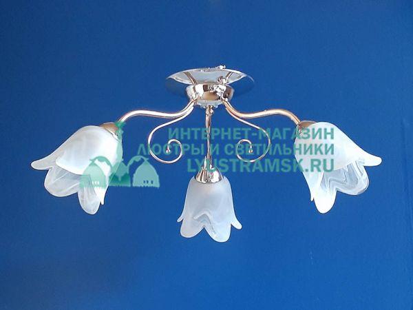 Люстра потолочная TinKo ЛС 086 на 3 рожка золото/хром