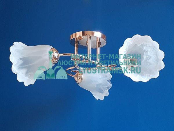 Люстра потолочная LyustraMsk  ЛС 197 на 3 плафона, золото